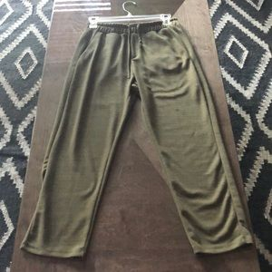 Drawstring casual pants
